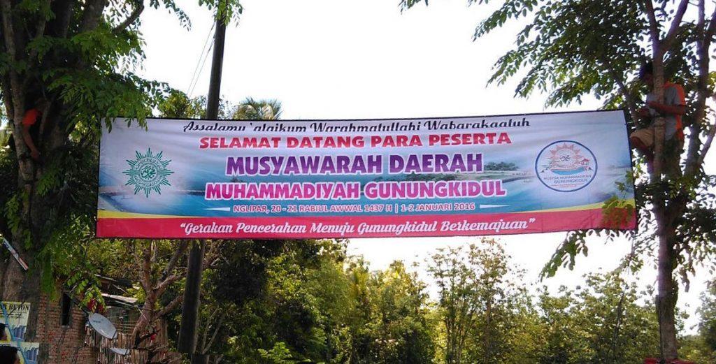 Slogan Musyda Muhammadiyah Gunungkidul 2015