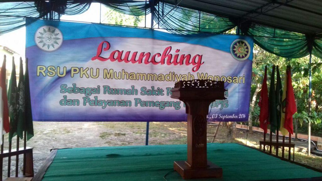 Panggung Launching RS. PKU Muhammadiyah Wonosari Ramah Difabel