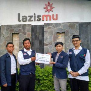 Penyerahan dana Lombok tahap 1