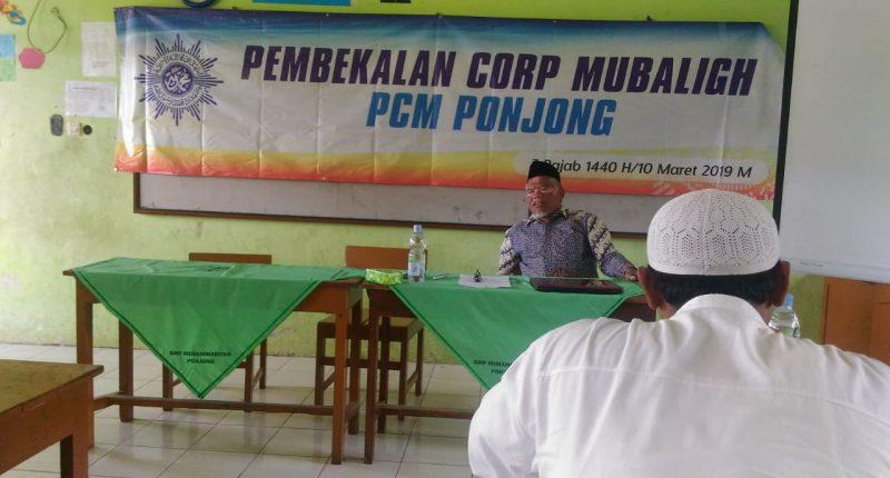 Ketua PDM Gunungkidul Drs H SADMONODADI M A Memberikan Pembekalan Korps Mubaligh Muhammadiyah PCM Ponjong