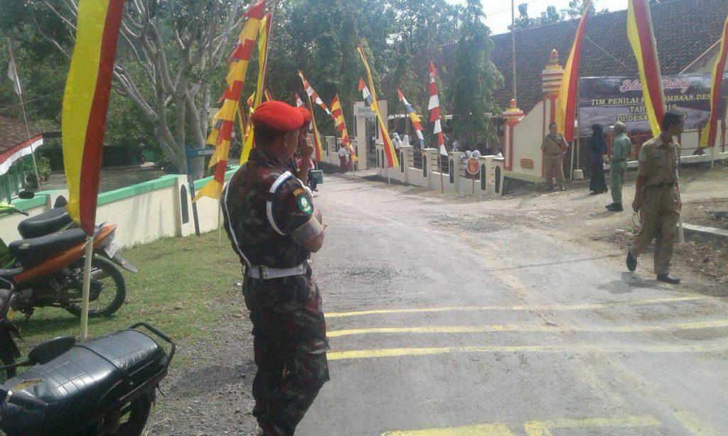 Suasana Lomba Desa Gedangsari dimana KOKAM turut serta Tim Tenaga Pengamanan