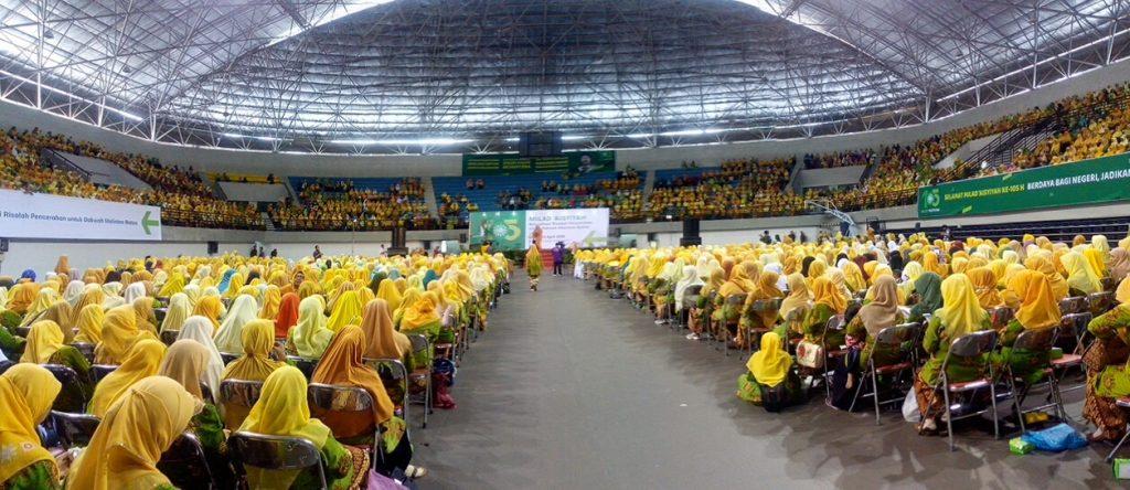 Suasana Megah Resepsi MILAD 105 Aisyiyah se Daerah Istimewa Yogyakarta di GOR Among Rogo Yogyakarta