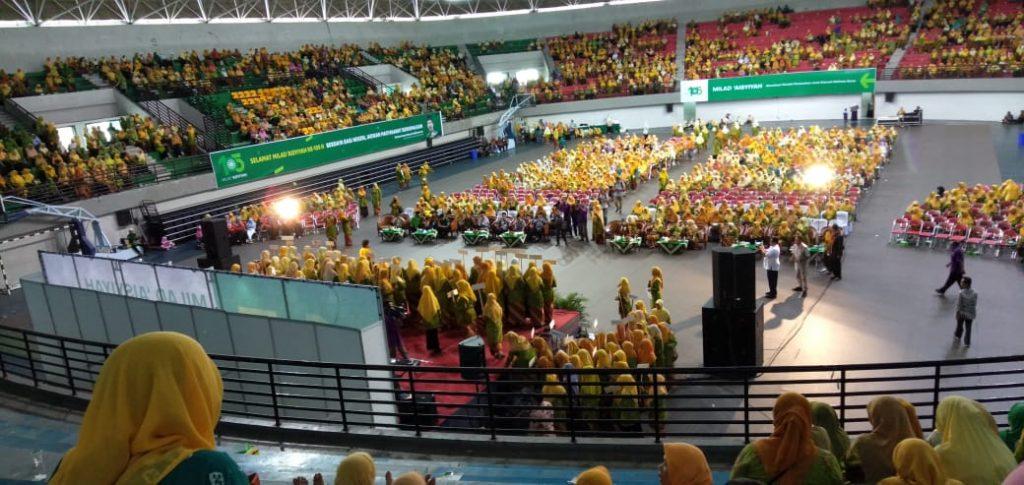 Suasana Resepsi MILAD 105 Aisyiyah se Daerah Istimewa Yogyakarta di GOR Among Rogo Yogyakarta