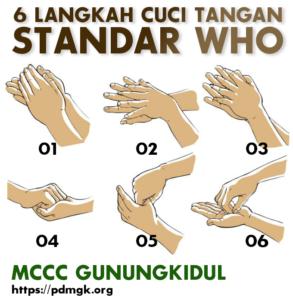 Cuci Tangan Menurut Standard WHO MCCC Gunungkidul