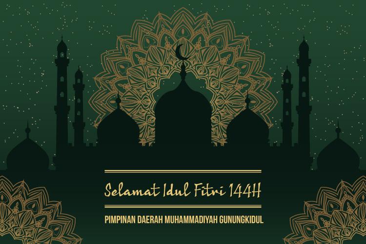PDM Gunungkidul mengucapkan Selamat Idul Fitri 1441 H